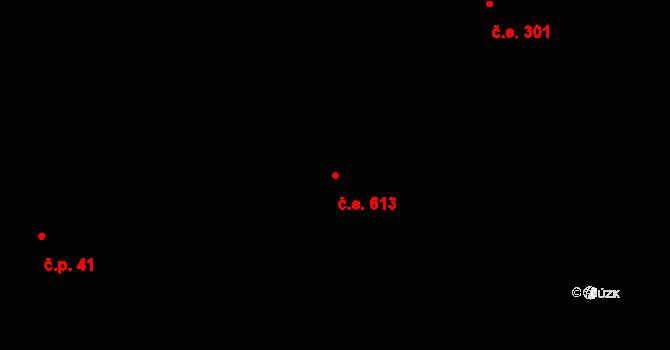 Lety 613 na parcele st. 1380 v KÚ Lety u Dobřichovic, Katastrální mapa
