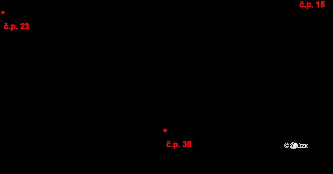 Vlasenice 38, Lhota-Vlasenice na parcele st. 39 v KÚ Vlasenice u Kamenice nad Lipou, Katastrální mapa