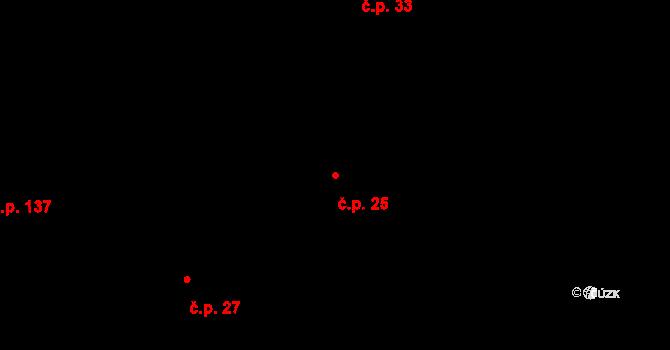 Příbram IX 25, Příbram na parcele st. 4636/9 v KÚ Příbram, Katastrální mapa