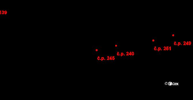 Chomoutov 245, Olomouc na parcele st. 228 v KÚ Chomoutov, Katastrální mapa