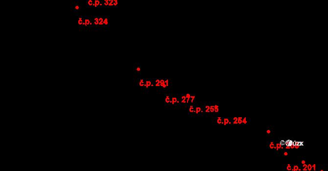 Povel 277, Olomouc na parcele st. 308 v KÚ Povel, Katastrální mapa