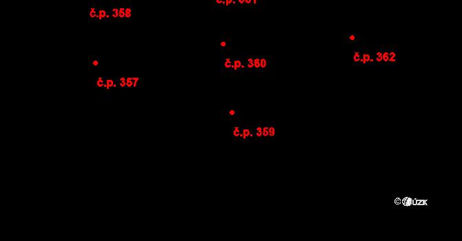 Valcha 359, Plzeň, Katastrální mapa