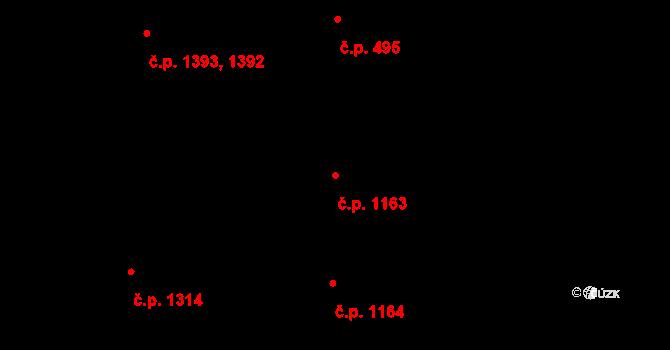 Holešovice 1163, Praha na parcele st. 1658 v KÚ Holešovice, Katastrální mapa