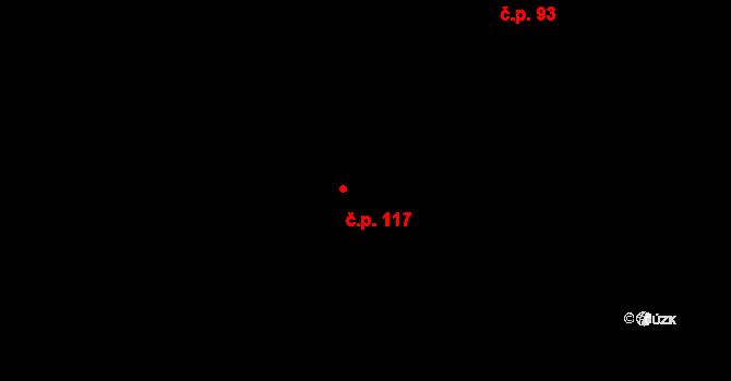 Mečichov 117 na parcele st. 158 v KÚ Mečichov, Katastrální mapa