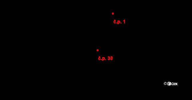 Nesperská Lhota 38, Vlašim na parcele st. 20/2 v KÚ Nesperská Lhota, Katastrální mapa
