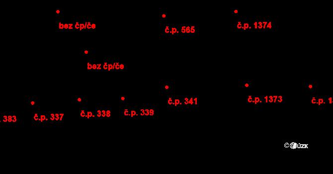 Sokolov 341 na parcele st. 320 v KÚ Sokolov, Katastrální mapa