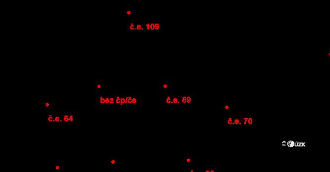 Prštné 69, Zlín na parcele st. 859 v KÚ Prštné, Katastrální mapa