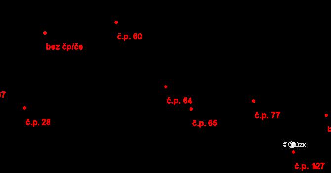 Nová Ves u Nového Města na Moravě 64 na parcele st. 136/1 v KÚ Nová Ves u Nového Města na Moravě, Katastrální mapa