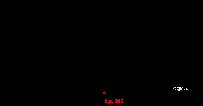 Dvory 386, Karlovy Vary na parcele st. 527/151 v KÚ Dvory, Katastrální mapa