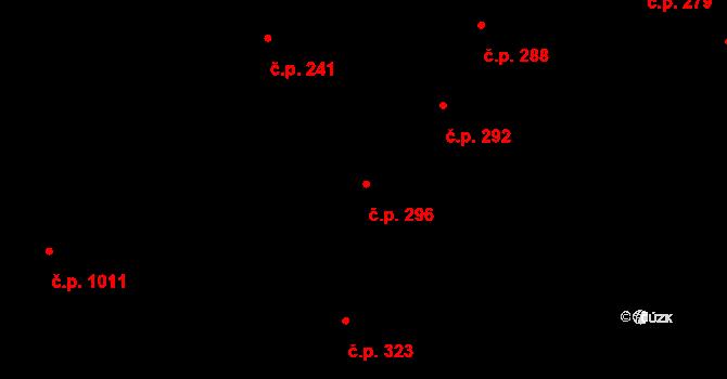 Libeň 296, Praha na parcele st. 203 v KÚ Libeň, Katastrální mapa