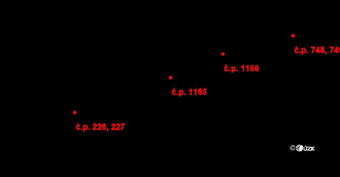 Libeň 1165, Praha na parcele st. 3220 v KÚ Libeň, Katastrální mapa