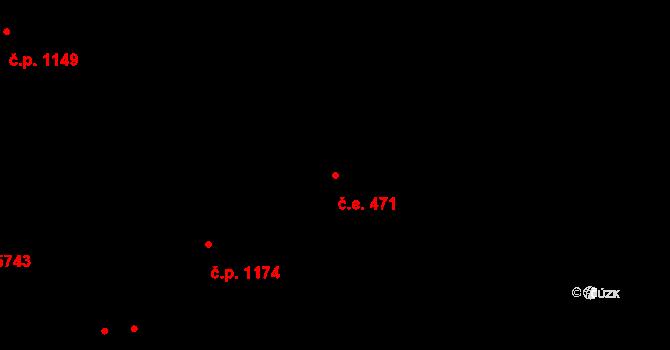 Zlín 471 na parcele st. 5818 v KÚ Zlín, Katastrální mapa