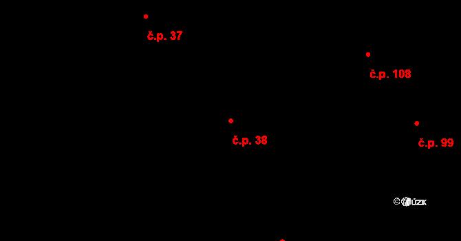 Závada 38 na parcele st. 185/1 v KÚ Závada u Hlučína, Katastrální mapa