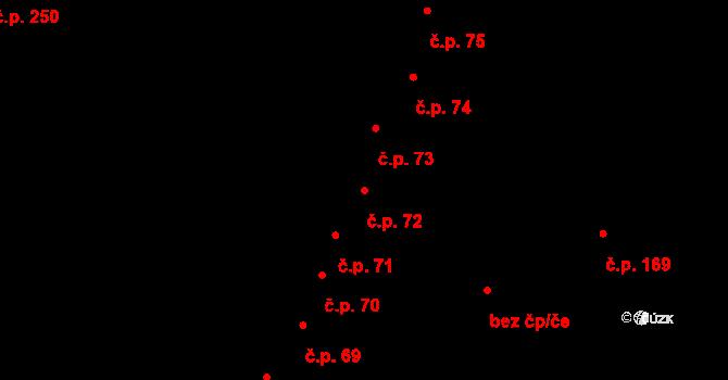 Hradec Králové 72 na parcele st. 99 v KÚ Hradec Králové, Katastrální mapa