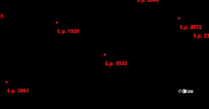 Smíchov 1933, Praha na parcele st. 4485 v KÚ Smíchov, Katastrální mapa