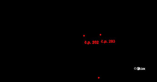 Žichovice 202 na parcele st. 139/2 v KÚ Žichovice, Katastrální mapa