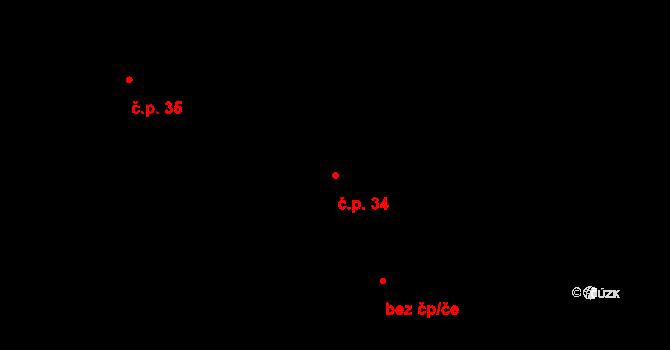 Mariánovice 34, Benešov na parcele st. 4126/168 v KÚ Benešov u Prahy, Katastrální mapa
