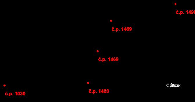 Holešovice 1468, Praha na parcele st. 612/2 v KÚ Holešovice, Katastrální mapa