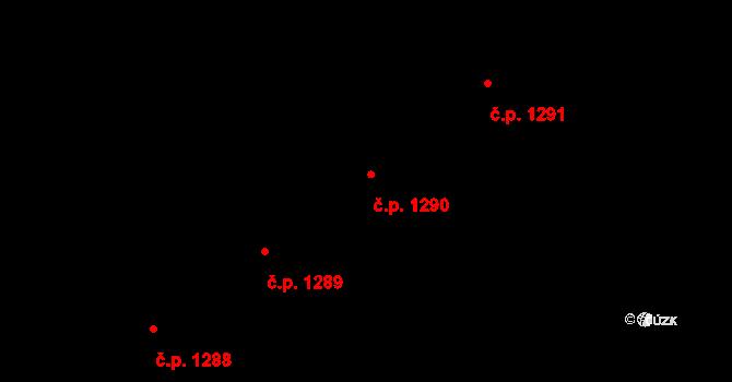 Libeň 1290, Praha na parcele st. 3564 v KÚ Libeň, Katastrální mapa