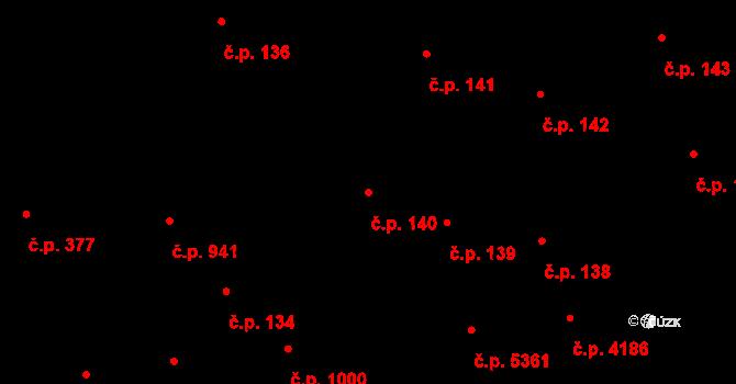 Chomutov 140 na parcele st. 144 v KÚ Chomutov I, Katastrální mapa