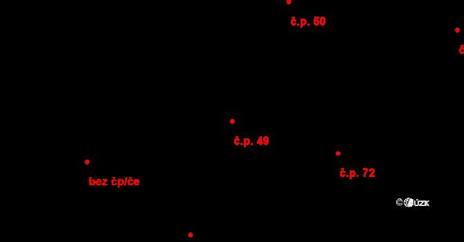 Kyjov 49, Krásná Lípa na parcele st. 36 v KÚ Kyjov u Krásné Lípy, Katastrální mapa