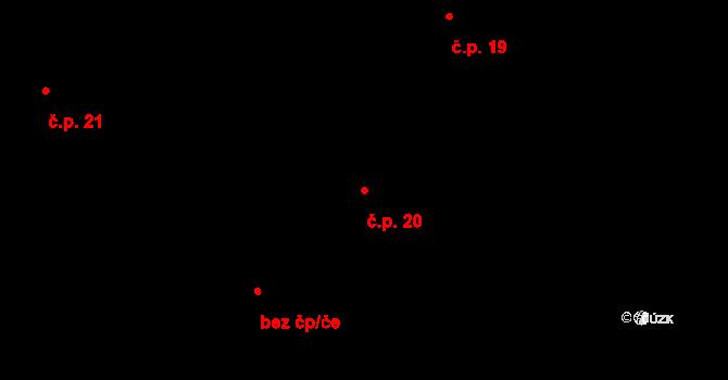 Lipno nad Vltavou 20 na parcele st. 39 v KÚ Lipno nad Vltavou, Katastrální mapa
