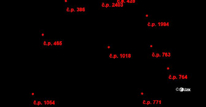 Aš 1018 na parcele st. 1164 v KÚ Aš, Katastrální mapa