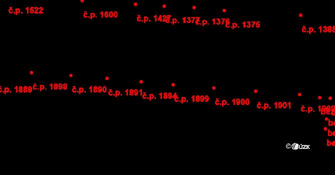 Židenice 1899, Brno na parcele st. 235 v KÚ Židenice, Katastrální mapa