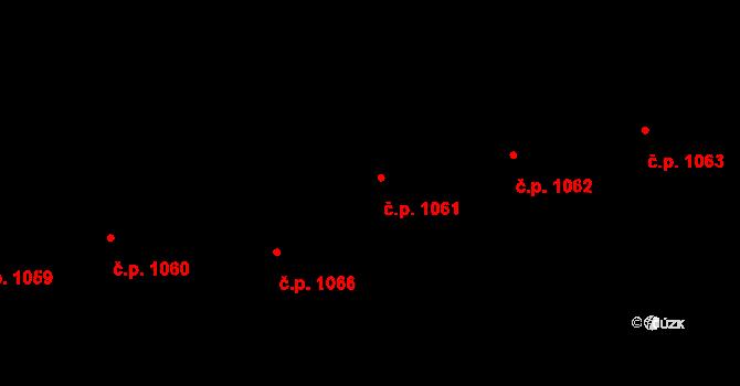 Krč 1061, Praha na parcele st. 1255/30 v KÚ Krč, Katastrální mapa