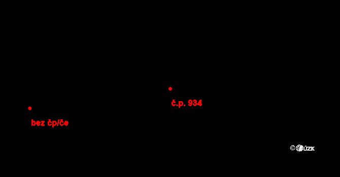 Tuřany 934, Brno, Katastrální mapa