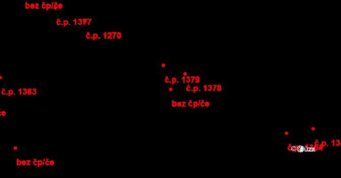 Kladno 93568932 na parcele st. 375/2 v KÚ Hnidousy, Katastrální mapa