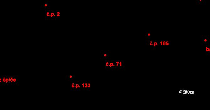 Hůry 71 na parcele st. 227 v KÚ Hůry, Katastrální mapa