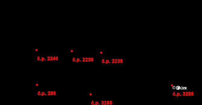 Smíchov 2238, Praha na parcele st. 649 v KÚ Smíchov, Katastrální mapa
