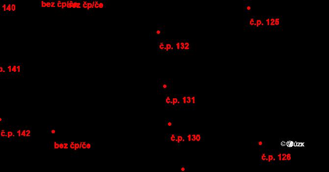 České Budějovice 6 131, České Budějovice na parcele st. 206 v KÚ České Budějovice 6, Katastrální mapa