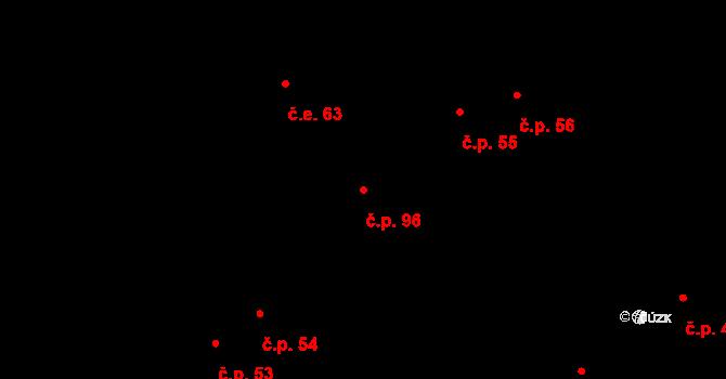 Hostovice 96, Pardubice na parcele st. 202 v KÚ Hostovice u Pardubic, Katastrální mapa