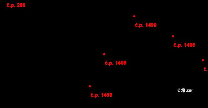 Holešovice 1469, Praha na parcele st. 612/3 v KÚ Holešovice, Katastrální mapa