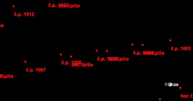 Řeporyje 1005, Praha na parcele st. 1532/123 v KÚ Řeporyje, Katastrální mapa