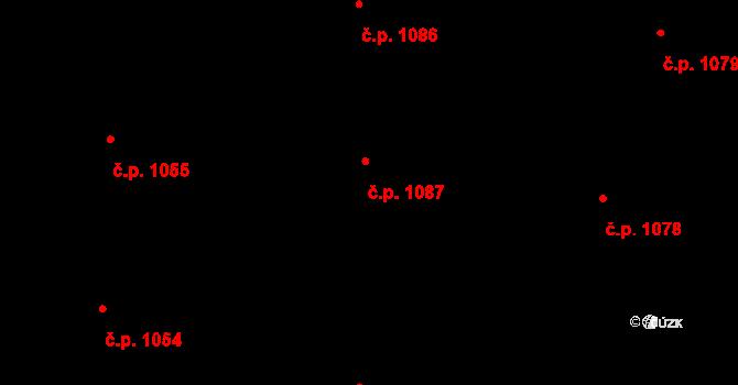 Nivnice 1087 na parcele st. 1981/77 v KÚ Nivnice, Katastrální mapa