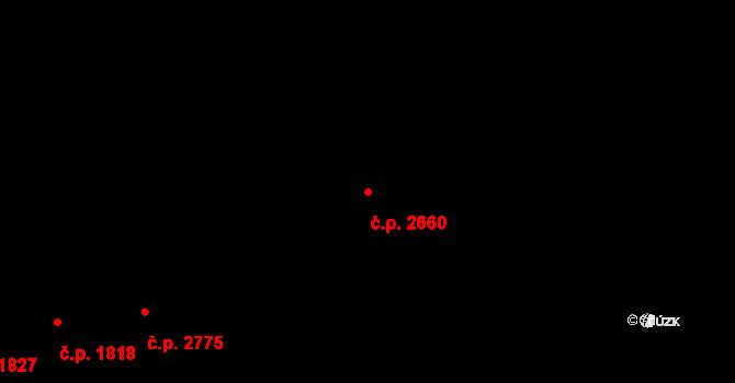 Žižkov 2660, Praha na parcele st. 2183/28 v KÚ Žižkov, Katastrální mapa
