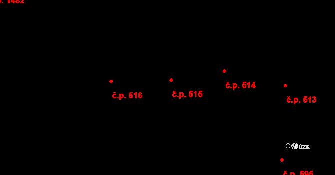 Michle 515, Praha na parcele st. 990 v KÚ Michle, Katastrální mapa