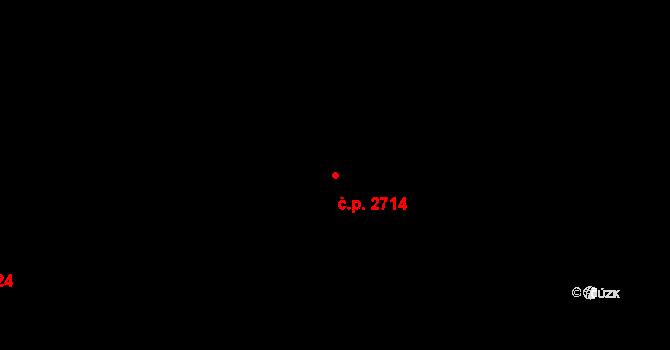 Újezd nad Lesy 2714, Praha na parcele st. 4312/99 v KÚ Újezd nad Lesy, Katastrální mapa