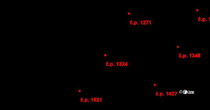 Nová Paka 1324 na parcele st. 2021/11 v KÚ Nová Paka, Katastrální mapa