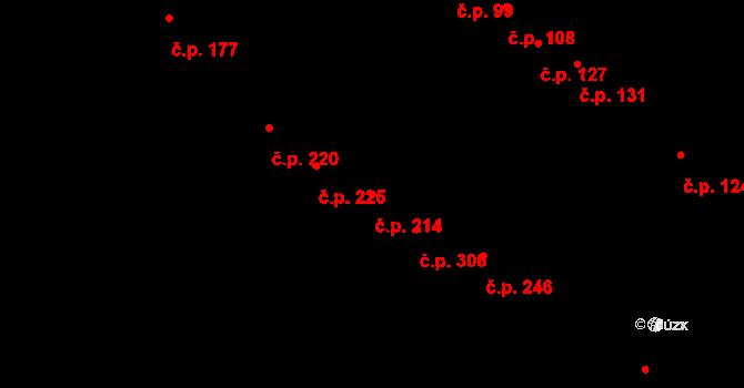 Mokrá Hora 214, Brno na parcele st. 537/25 v KÚ Mokrá Hora, Katastrální mapa