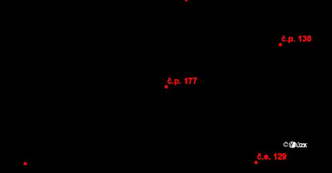 Lázně Kundratice 177, Osečná na parcele st. 293 v KÚ Lázně Kundratice, Katastrální mapa
