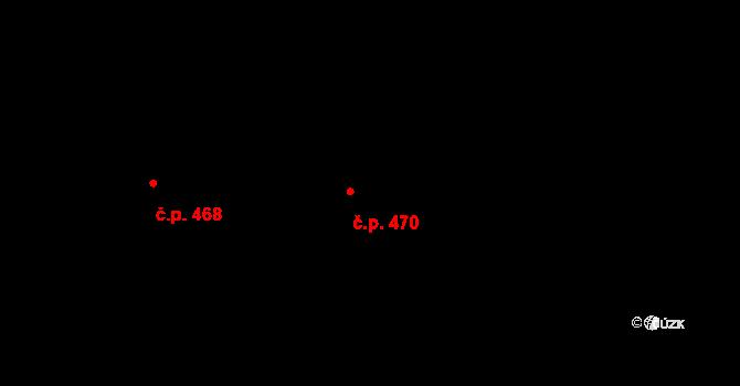 Stará Huť 470 na parcele st. 681 v KÚ Stará Huť, Katastrální mapa