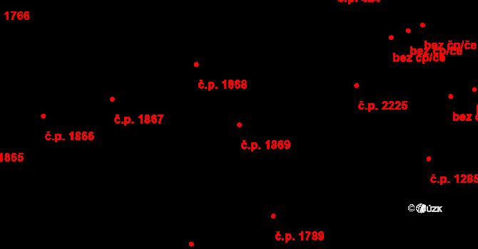 Moravská Ostrava 1869, Ostrava na parcele st. 839/1 v KÚ Moravská Ostrava, Katastrální mapa