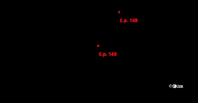 Čepirohy 149, Most na parcele st. 810 v KÚ Čepirohy, Katastrální mapa