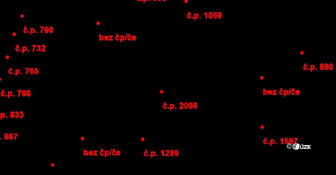 Čelákovice 2056 na parcele st. 4671 v KÚ Čelákovice, Katastrální mapa