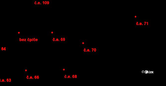 Prštné 70, Zlín na parcele st. 861 v KÚ Prštné, Katastrální mapa