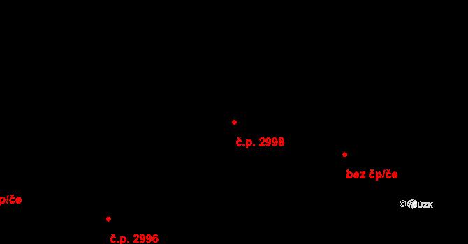 Jižní Předměstí 2998, Plzeň na parcele st. 6282/15 v KÚ Plzeň, Katastrální mapa